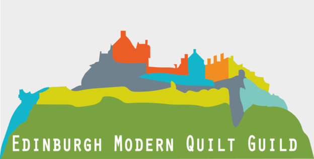 Edinburgh modern quilt guild logo designed by Jonathan Avery