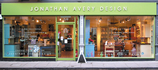 Jonathan Avery Design store at 7-9 Church Hill Place Edinburgh