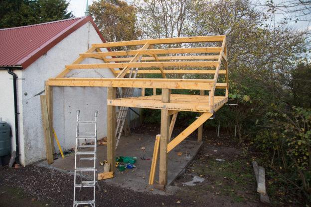 tiny barn frame