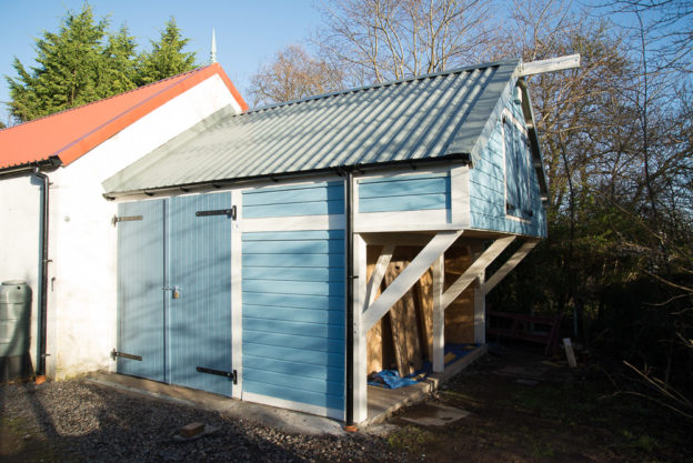 Tiny Barn at Shangri La Farm designed and built by Jonathan Avery