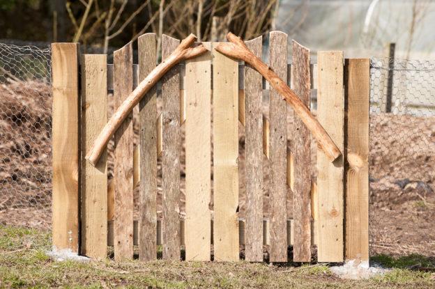rustic garden gate by Jonathan Avery